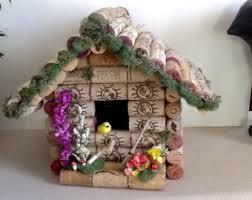 cork birdhouse etsy