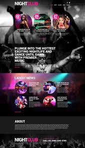 website template 53257 night club music custom website template