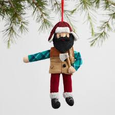 fabric lumberjack ornaments set of 2 world market