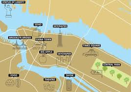 tourist map of new york new york free vector 4703 free downloads