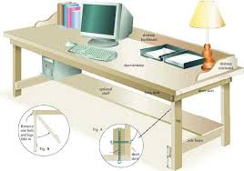 Plans For A Wooden Computer Desk by Build A Low Cost Desk Diy Mother Earth News