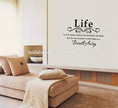 stylish english proverbs pattern removable pvc wall sticker home