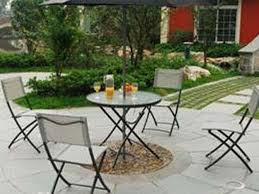 Round Table Patio Dining Sets - patio 61 comfy wicker garden dining set with round table and