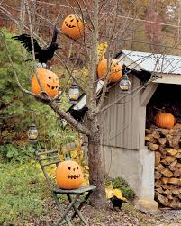 Halloween Home Decor Catalogs by Exteriors Licious Outdoor Halloween Decorating With Skeleton And