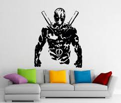 deadpool sticker etsy deadpool stencil stickers wall vinyl decals home interior murals art decoration