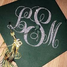 monogram graduation cap graduation cap decal graduation cap decoration monogram decal grad
