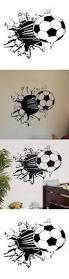 245 best fitness stickers images on pinterest sticker vinyl toogoo r soccer ball football vinyl wall sticker decal kids room decor sport boy
