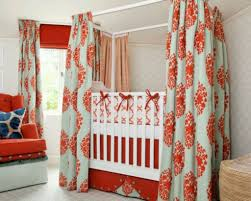 Curtains For Nursery Room by Stylish Baby Room With Canopy Crib And Long Curtains Beautiful