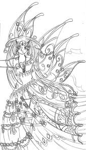 9 images of beautiful detailed fairy coloring pages detailed