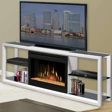 dimplex novara 64 inch electric fireplace media console glass