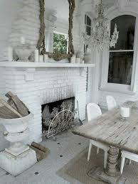 Shabby Chic Fireplaces by Decor Shabby Chic Cottage Dining Room With Fireplace Home Decor