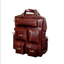 Rugged Leather Backpack 51 Off Handbags Rugged Handcrafted Rust Brown Leather Backpack