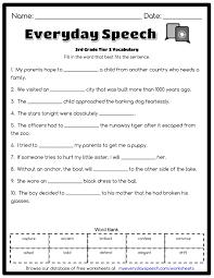 3rd grade tier 2 vocabulary everyday speech everyday speech