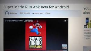 run apk android mario run apk beta for android