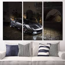 aliexpress com buy 3 panels canvas art car pagani huayra side