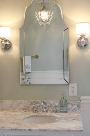 allen roth hovan arch frameless mirror traditional bathroom