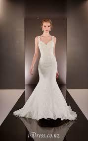 ivory lace sequins sleeveless open back mermaid wedding dress idress