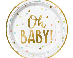 baby plates baby shower plates etsy