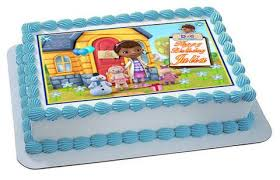 doc mcstuffins edible image all cake toppers and cupcake toppers strips for the cake side