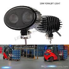 blue warning lights on forklifts 10w led blue spotlight warehouse safe warning light for trailer