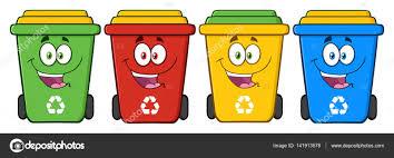 imagenes animadas sobre el reciclaje personajes de dibujos animados de cubos de reciclaje vector de