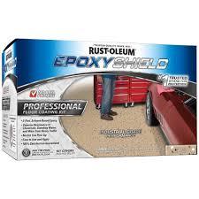rust oleum epoxyshield 2 gal dunes tan semi gloss professional