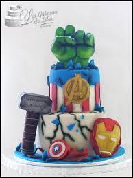 gâteau avengers hulk thor captain america ironman les