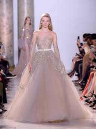 elie saab wedding dresses elie saab wows with fairytale dresses at show daily mail