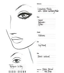 blank face charts to design and practice looks for your clients face