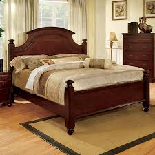 shop furniture of america gabrielle cherry king 4 poster bed at