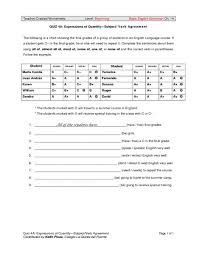 expressions of quantity subject verb agreement 4th 6th grade