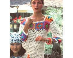 Vintage Crochet Pattern Pdf Fashion by Vintage Crochet Patterns Etsy