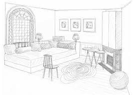 dessin chambre dessin chambre perspective inspiration sur l intérieur et les meubles