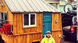 man converts pop up trailer into micro cabin on wheels youtube