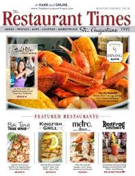 grille d a ation cuisine the restaurant times st augustine winter 2017 by publishing