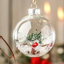 chic and creative fillable ornaments glass ideas plastic