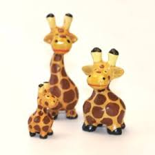 fair trade carved wooden giraffe ornaments set of 3