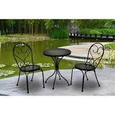 small garden bistro table and chairs chic small bistro set outdoor buy scroll and stripe 3 piece elegant