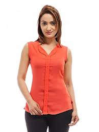 top design buy femninora s carrot color casual sleeveless stylish