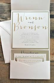 pocket fold invitations bronson wedding invitation large pocketfold with ribbon tie