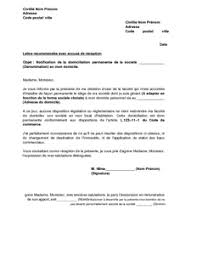 domiciliation siege social lettre de notification de la domiciliation permanente d une