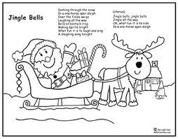 printable lyrics jingle bells song santa sleigh coloring page lyrics sing laugh