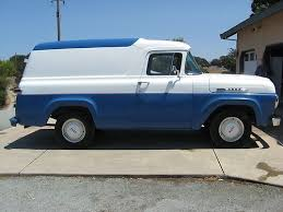 ford truck panels 1960 ford f100 panel truck rod blue white delivery truck