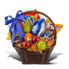 send gift basket football themed gift basket at send flowers