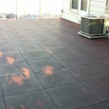 Recycled Tire Patio Tiles by Patio Rubber Floor Tile Sterling Patio Flooring 2 Inch Terra Cotta