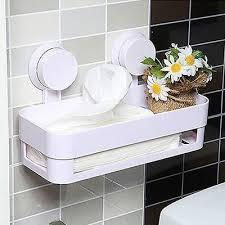 Suction Shelf Bathroom Home Bathroom Plastic Shower Storage Rack Shampoo Holder Shelf