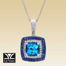 necklace with topaz images Kay clearance le vian diamond blue topaz sapphire necklace jpg
