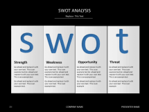 powerpoint slide templates swot analysis template