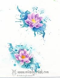 watercolor lotus flower tattoo idea tattoo pinterest flower