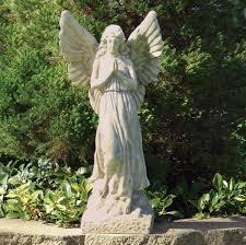 outdoor kneeling angel garden statue garden statues to enhance